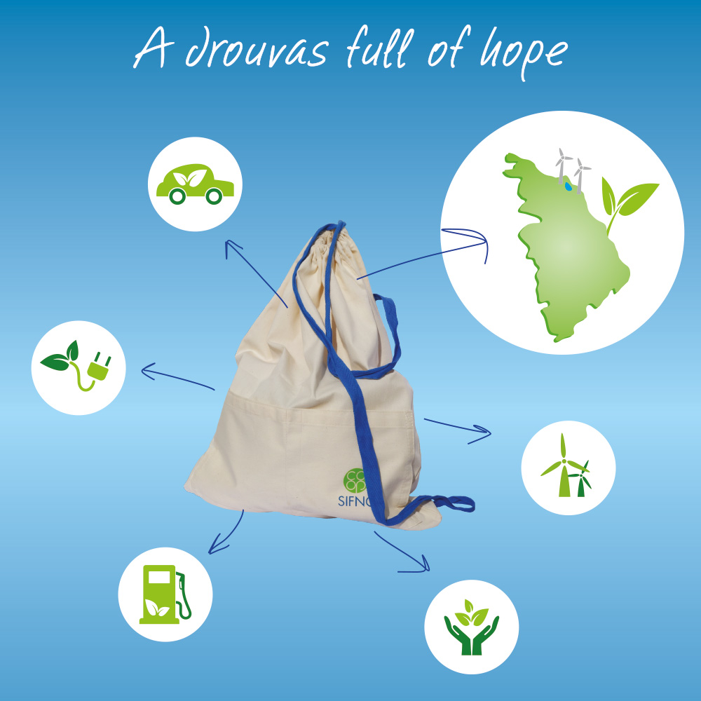 A drouvas-sifnian backpack- full of hope