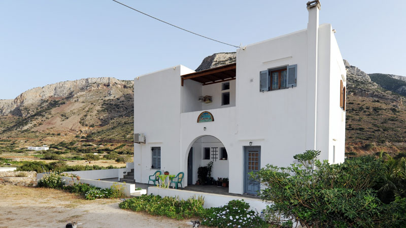 Katerina rooms in Agia Marina of Kamares with magical sunset views