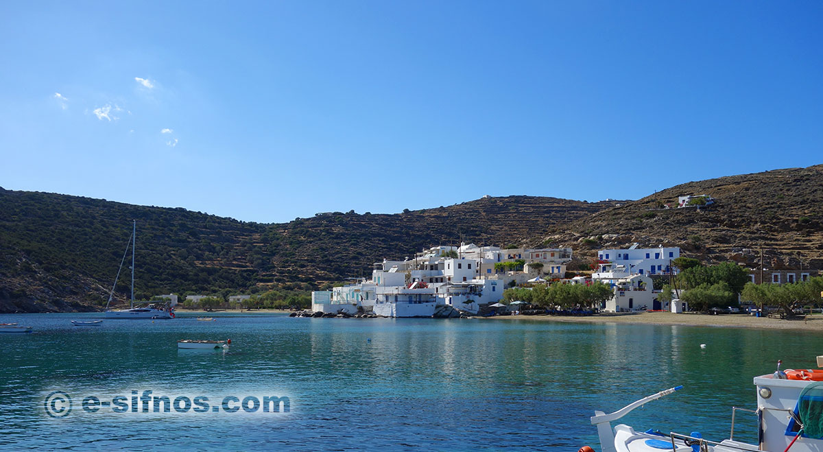 The beach of Faros in Sifnos