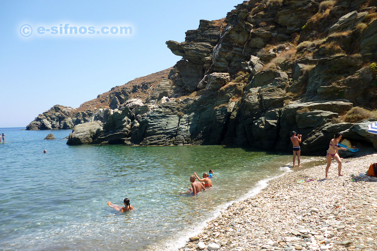Seralia beach at the village of Kastro in Sifnos