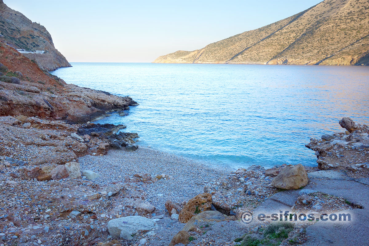 The beach Spilia in Sifnos