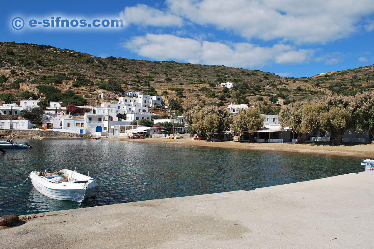 The north beach of Vathi in Sifnos