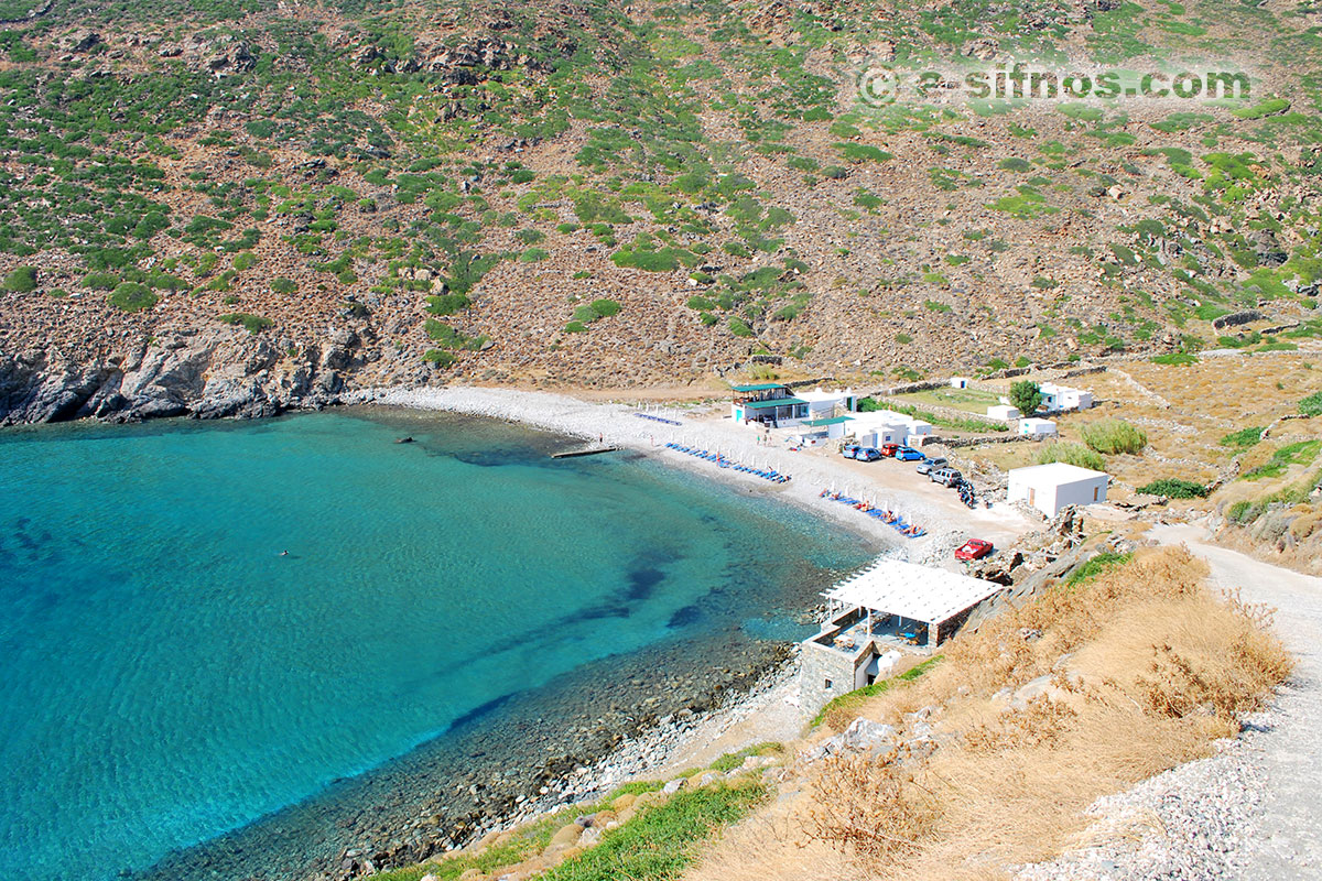 Panoramic view of Vroulidia beach in Sifnos