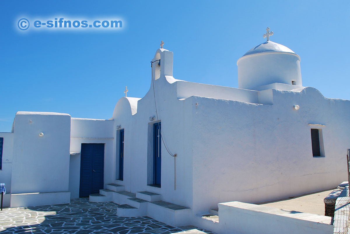 The monastery of Stavros at the beach Fassolou, in Faros