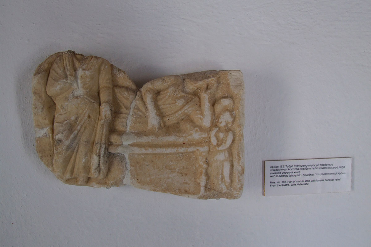 Exhibit from the archaeological museum of Sifnos