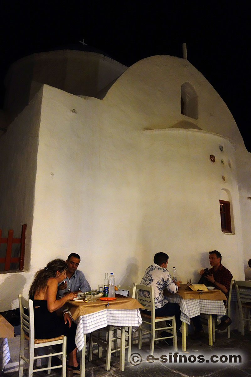 A restaurant at the central alley of Apollonia