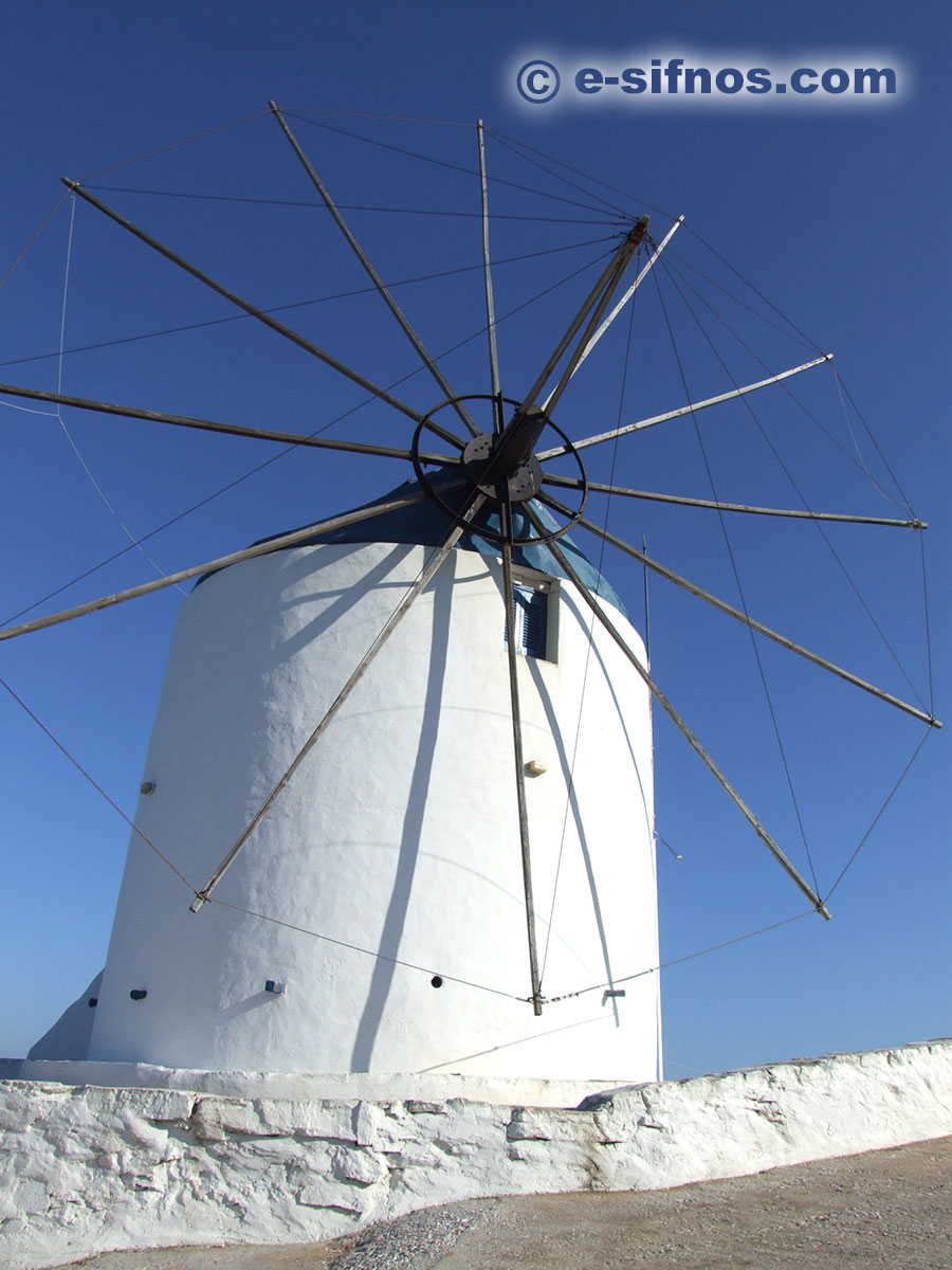Restored windmill in Artemonas