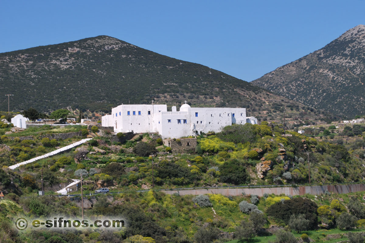 The monastery of Panagia Vrissiani, just outside Exabela