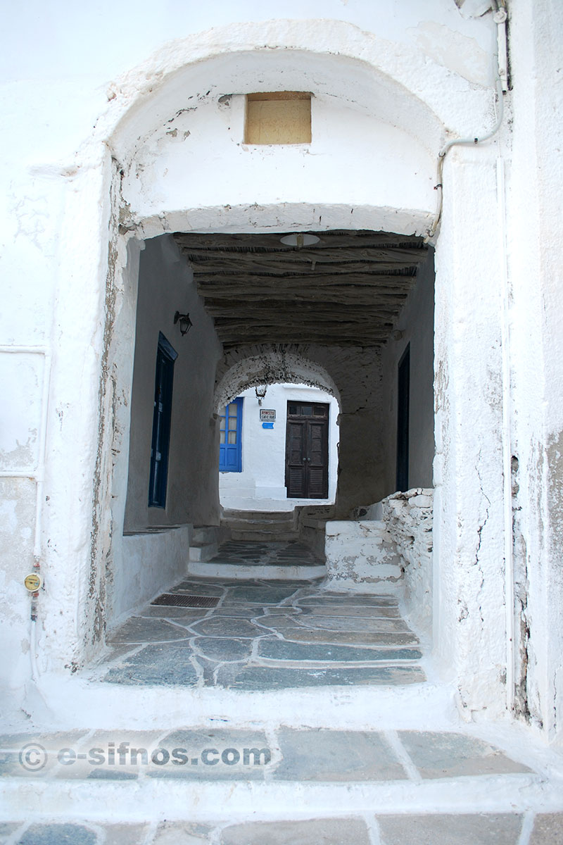 An old entrance to the Kastro village