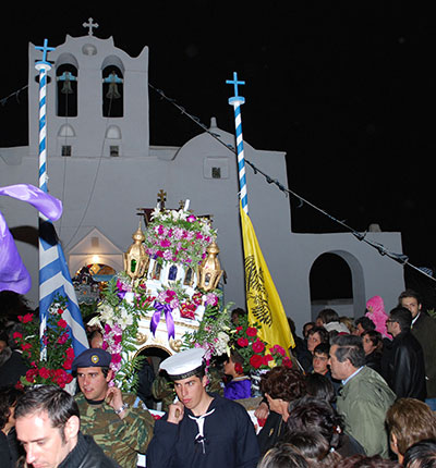 The Epitaph procession at Easter in Sifnos