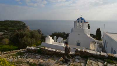 A video showing the trails of Sifnos