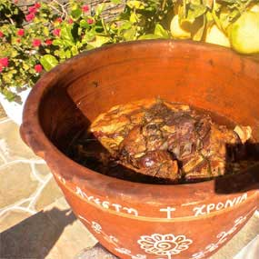 Mastelo, traditional recipe from Sifnos