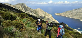 hiking on the trails of Sifnos