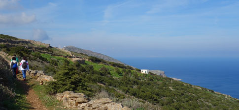 Hiking the trails of Sifnos