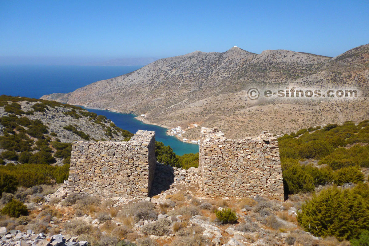 Installations of ancient mines in Sifnos