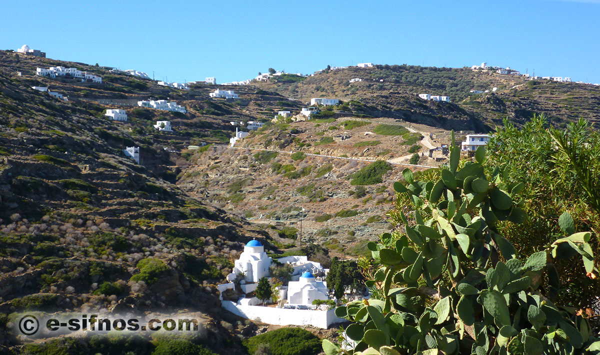 The chapels in the cemetary of Kastro in Sifnos