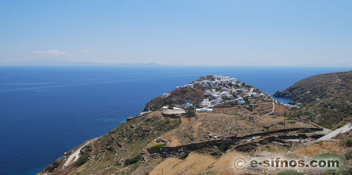 The village of Kastro in Sifnos