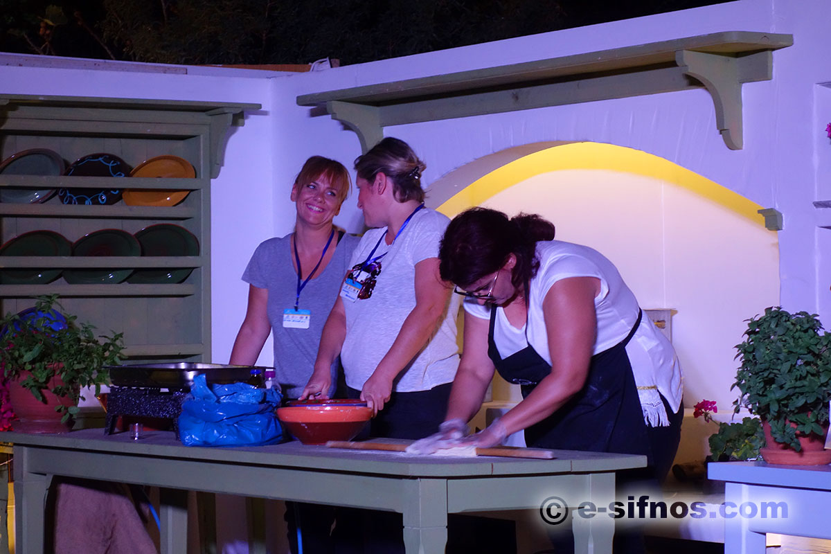 Presentation of a traditional recipe from Syros, at the Cycladic Gastronomy Festival