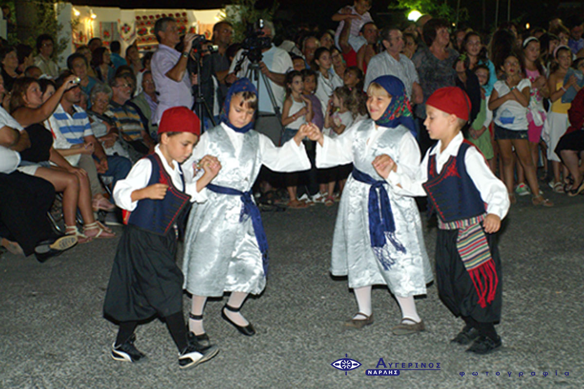 Presentation of Greek traditional dances by children at the Cycladic Gastronomy Festival