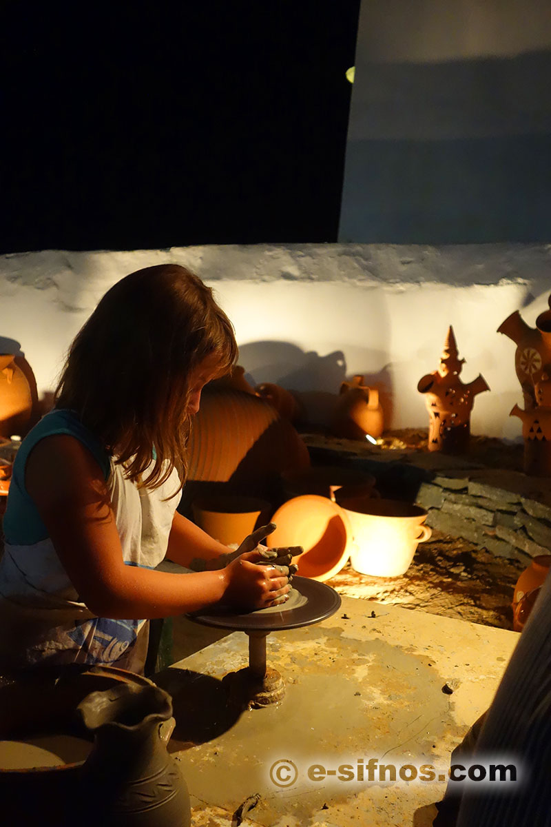 Pottery art lessons at the Cycladic Gastronomy Festival in Sifnos