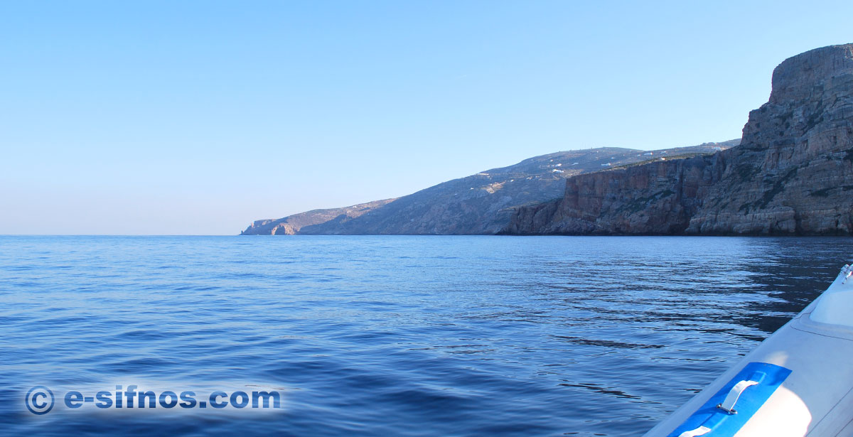 Tour with boat in Sifnos