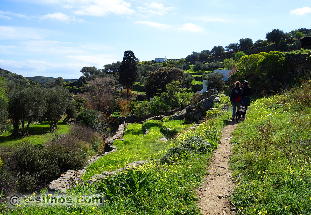 The trail from Apollonia to the Monastery of Vrissi