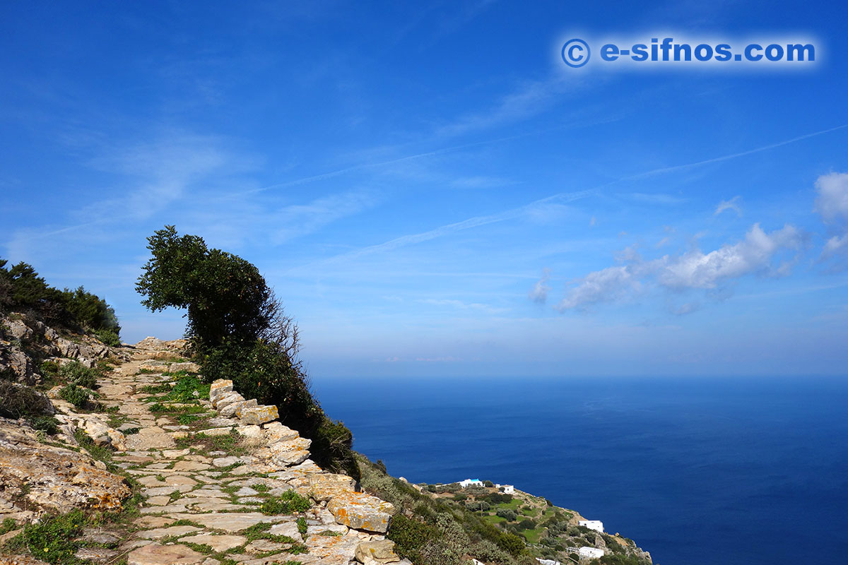 The trail from Artemonas to the church Panagia Magana, in Sifnos