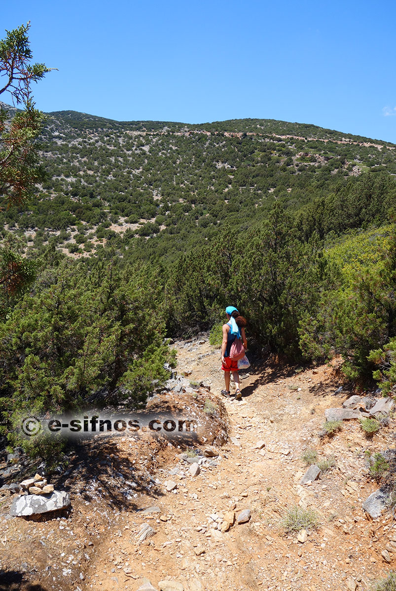 The path from Platis Gialos to Fikiada beach