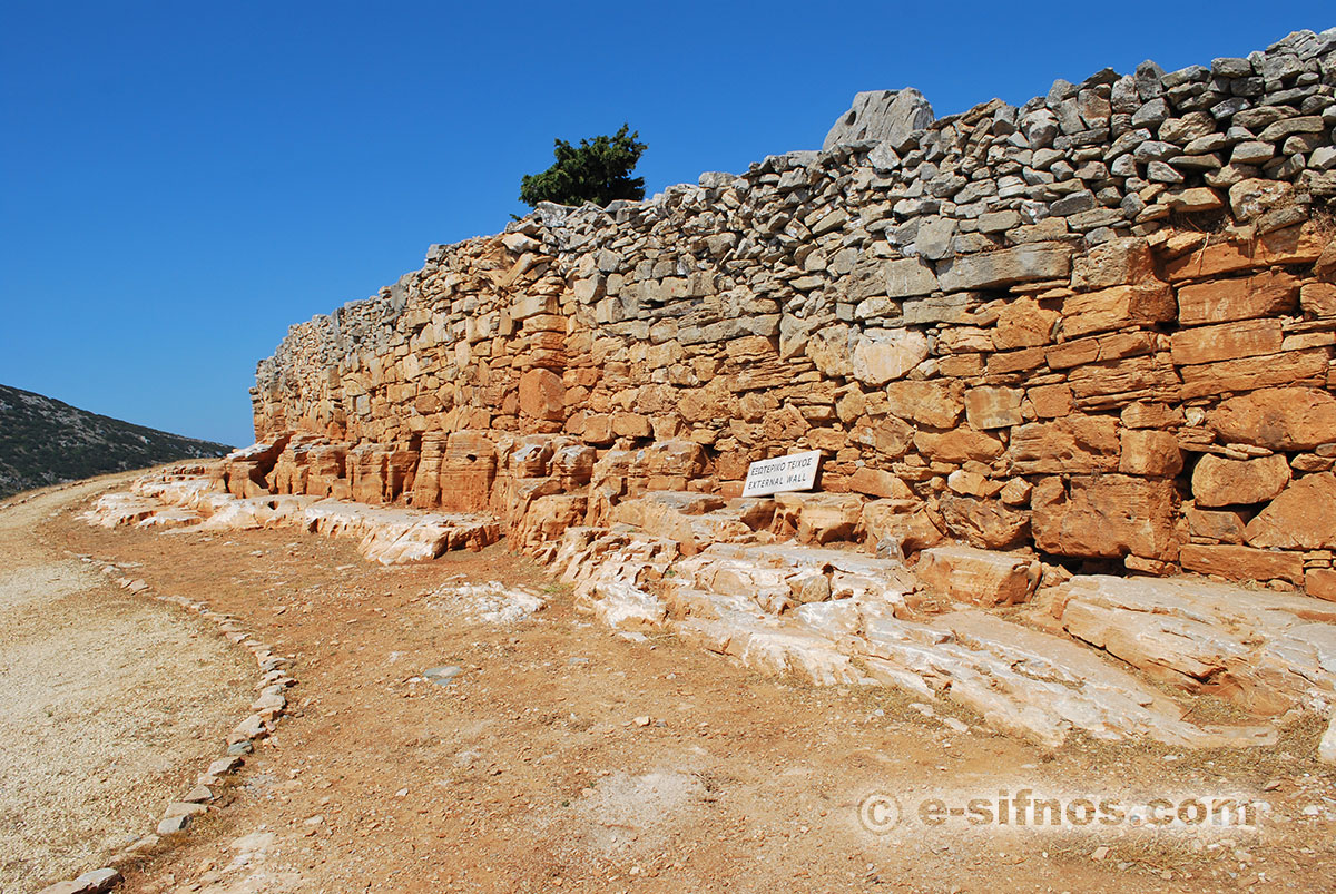 Ancient Acropol of Agios Andreas in Sifnos