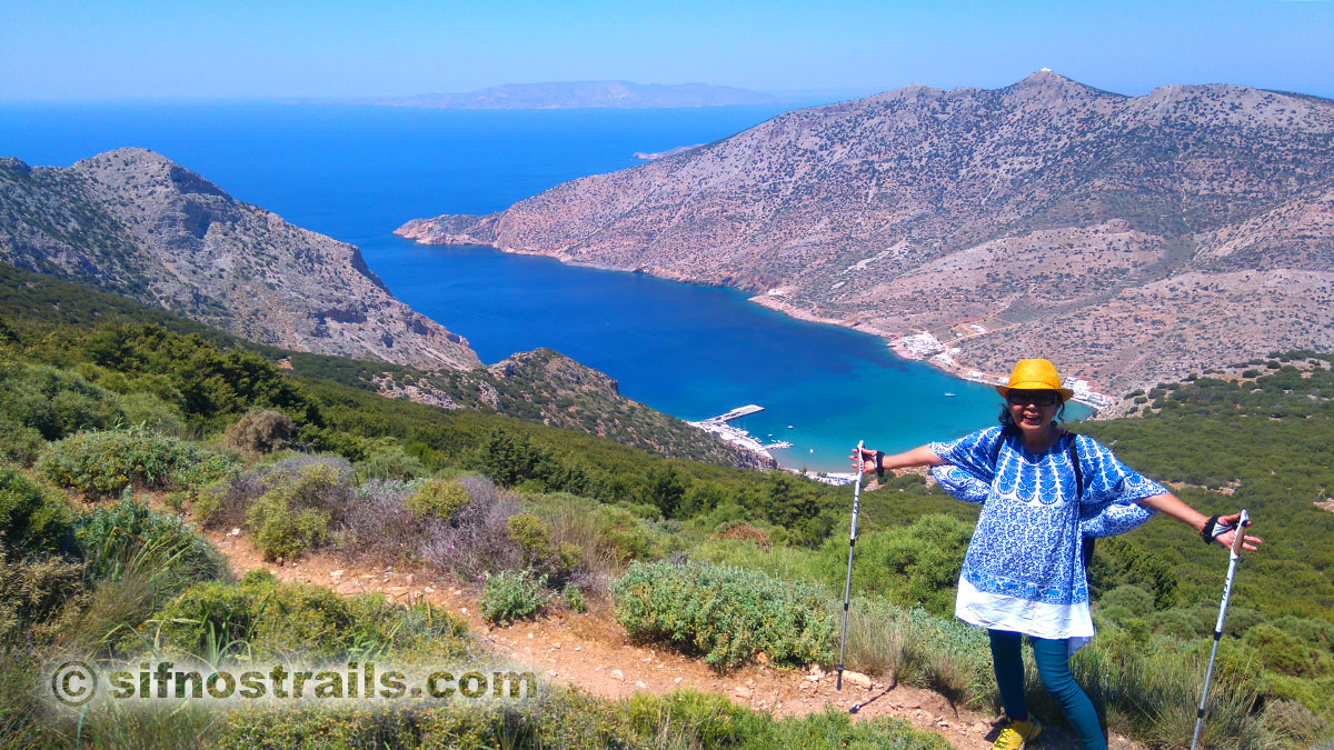 Suh Myong Sook walks the trails of Sifnos